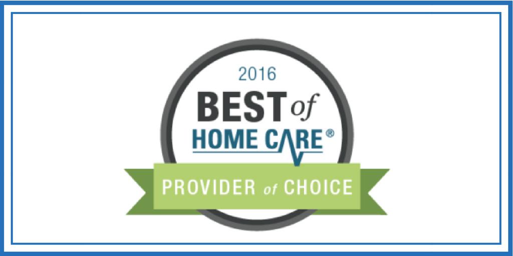 Best Homecare Agency Award for 2016